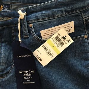 Charter Club Jeans - Charter Club Skinny Ankle Jeans NWT